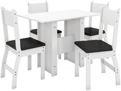 Mesa de Cozinha 4 Cadeiras Retangular Milano - J57050 Poliman Móveis