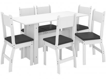 Mesa de Cozinha 6 Cadeiras Retangular Milano - J58050 Poliman Móveis
