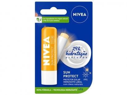 Protetor Solar Hidratante Labial Nivea - Sun Protect Alta Protação FPS 30 4,8g