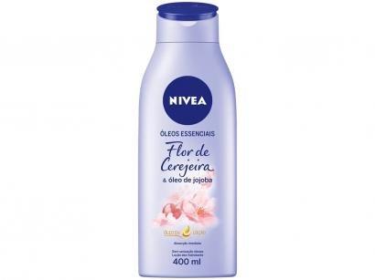 Óleos Essenciais Nivea Flor de Cerejeira e - Óleo de Jojoba Maciez e Brilho 400ml