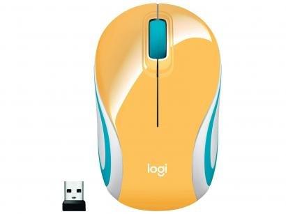 Mini Mouse sem Fio Logitech Laser 1000DPI 3 Botões - M187