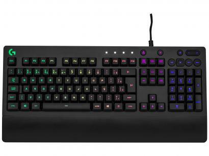 Teclado Mecânico Gamer RGB Logitech G213 Prodigy - USB ABNT2 Preto