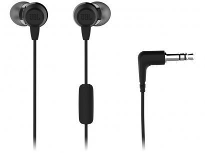 Fone de Ouvido JBL C50HI Intra-auricular - com Microfone Preto