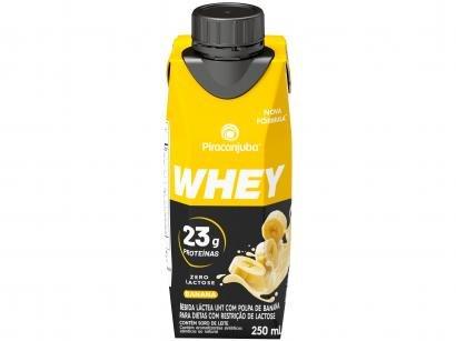 Bebida Láctea Piracanjuba Whey Banana Zero Lactose - 250ml