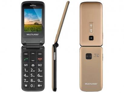 Celular Multilaser Flip Vita Dual Chip 2G - Rádio FM MP3 Bluetooth Desbloqueado