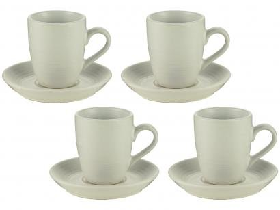 Jogo de Xícaras de Café Porcelana 90ml Bon Gourmet - 27849 4 Peças