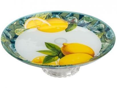 Centro de Mesa de Vidro Redondo Bon Gourmet - Lemons