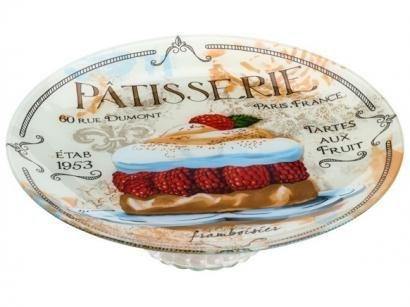 Prato para Bolo de Vidro Bon Gourmet Redondo - Patisserie 30cm