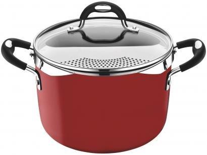 Espagueteira Tramontina Alumínio Antiaderente 5,4L - Vermelho 22cm com Tampa Mônaco 28709722