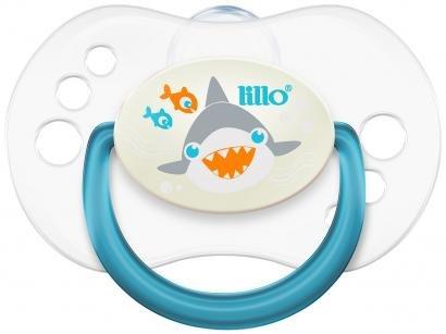 Chupeta Silicone Simétrico Lillo Baby Smart Azul - 6 Meses