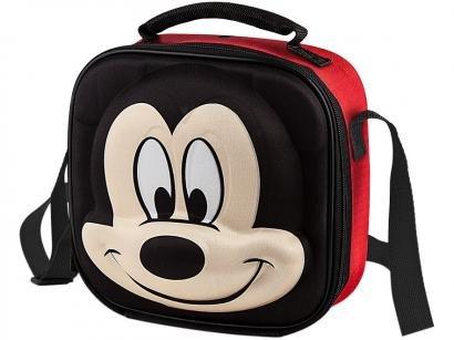 Lancheira Infantil 3D Escolar Mickey Mouse - Vermelho e Preto Lillo Baby Care Disney