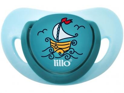 Chupeta Silicone Ortodôntico Lillo Baby Elegancy - Azul 6 Meses