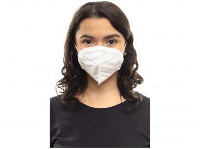 Máscara Descartável Tripla Camada com Elástico - Slow KN-95 PFF2 Branca