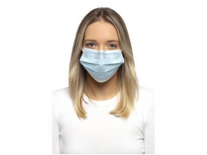 Máscara Descartável 3 Camadas com Elástico - Slow PFF1 Branca 10 Unidades