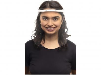 Máscara Protetor Facial Reutilizável Acetato - Slow Transparente
