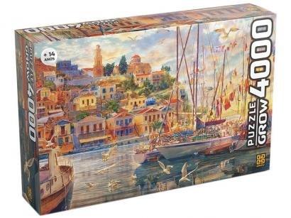 Quebra-cabeça 4000 Peças Paisagem Puzzles Adultos - Mar Egeu Grow