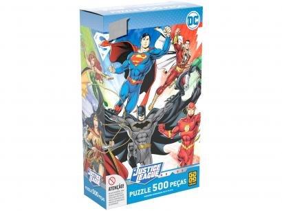 Quebra-cabeça 500 Peças Heróis DC Comics - Puzzles Adultos Liga da Justiça