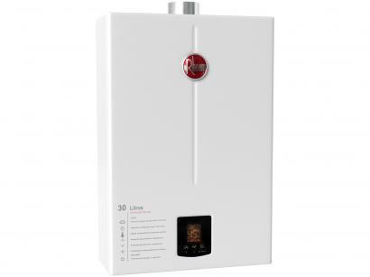 Aquecedor de Água a Gás GLP Rheem Prestige - RB3AP30PVPTIC Controle Eletrônico...