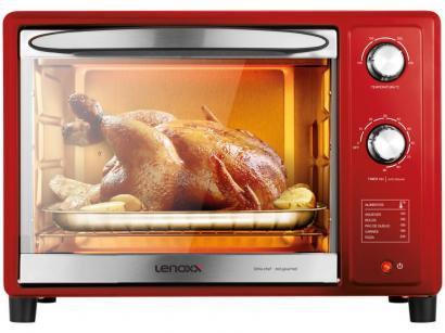 Forno Elétrico de Bancada Lenoxx 36L - Chef Red Gourmet PFO309
