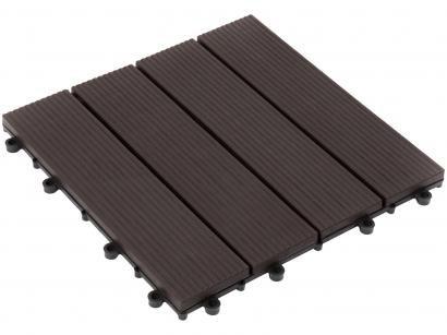 Mini Deck de Polipropileno Frisado Ipê 30x30cm - Massol DE2842