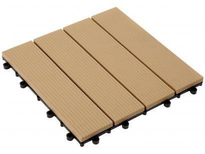 Mini Deck de Polipropileno Frisado Cumaru 30x30cm - Massol DE2992