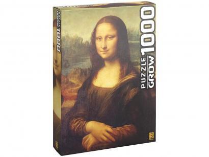 Quebra-cabeça 1000 Peças Monalisa - Grow