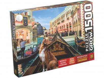 Quebra-cabeça 1500 Peças Paisagem - Puzzles Adultos Pet na Gôndola Grow