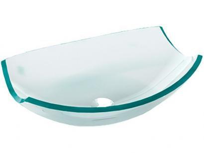 Cuba para Banheiro VB Cristais Simples de Vidro - de Apoio Oval 39x28cm Barril