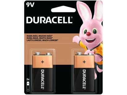 Bateria Alcalina Duracell 9V - 2 Unidades