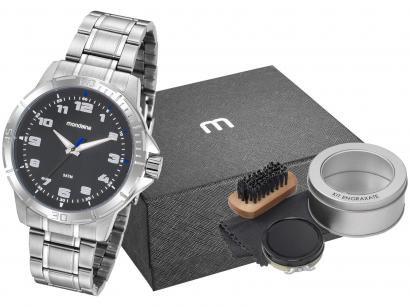 Relógio Masculino Mondaine Analógico - 99467G0MVNE2K1 Prata com Acessório