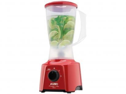 Liquidificador Arno Power Mix LQ11 Vermelho - 2 Velocidades 550W