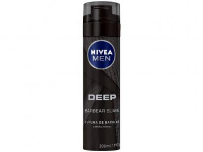 Espuma de Barbear Nivea Men Deep - 200ml