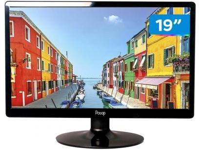 """Monitor para PC PCTop Slim MLP190HDMI 19"""" LED - IPS Widescreen HD HDMI VGA"""