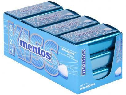 Pastilha Mentos Kiss Mint sem Açúcar 420g - Display
