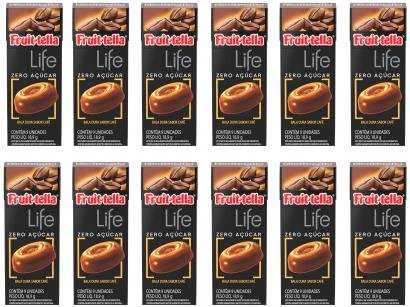 Bala Fruittella Life Café sem Açúcar - 226,8g Flip Top 12 Unidades