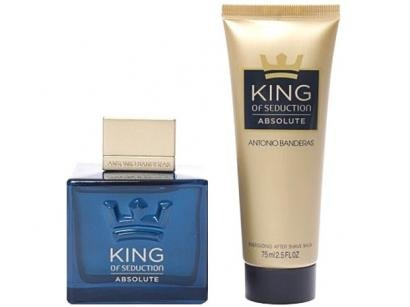 Kit Perfume Antonio Banderas King of Seduction - Absolute Masculino Eau de Toilette 100ml Pós-Barba