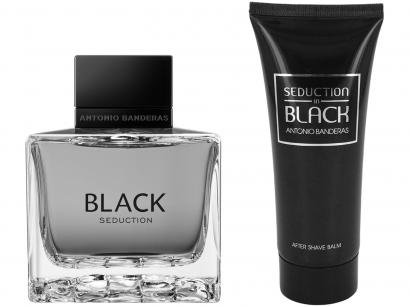 Kit Perfume Antonio Banderas Seduction in Black - Masculino Eau de Toilette 100ml Loção Pós Barba