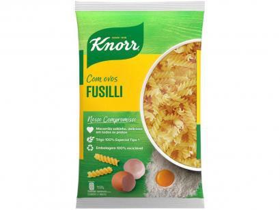 Macarrão Parafuso Sêmola com Ovos Knorr Seco - Fusilli 500g