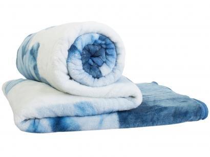 Cobertor Casal Jolitex Microfibra Kyor Plus Malbec - Azul