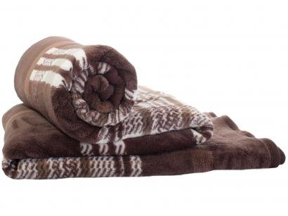 Cobertor Casal Jolitex Microfibra Kyor Plus - Arezzo Marrom