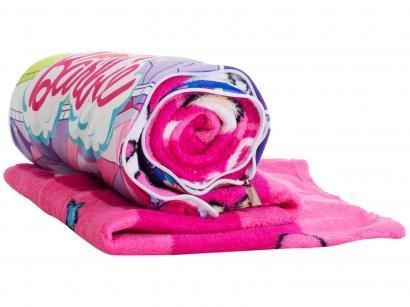 Manta Almofada Juvenil Jolitex Microfibra Mattel - Barbie Rosa