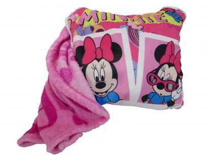 Manta Almofada Juvenil Jolitex Microfibra Disney - Minnie Rosa