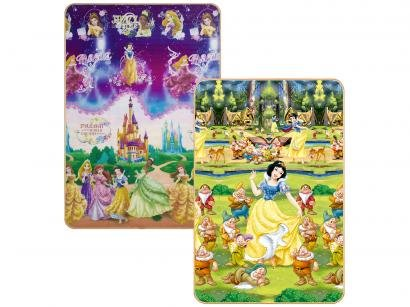 Tapete Infantil Princesas para Quarto Retangular - Recreio Disney 120x180cm Jolitex