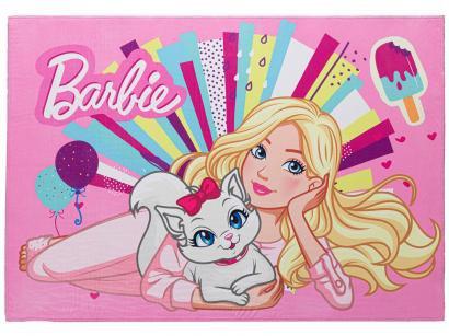 Tapete Infantil Barbie Retangular Joy Mattel - 70x100cm Jolitex