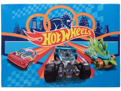 Tapete Infantil Hot Wheels Retangular Joy Mattel - 70x100cm Jolitex