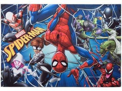 Tapete Infantil Spider Man Retangular Joy Marvel - Aventura 70x100cm Jolitex