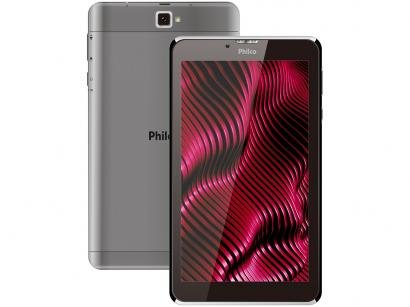 "Tablet Philco PTB7RSG 7"" Wi-Fi 16GB Android 9 - Quad-Core com Câmera..."