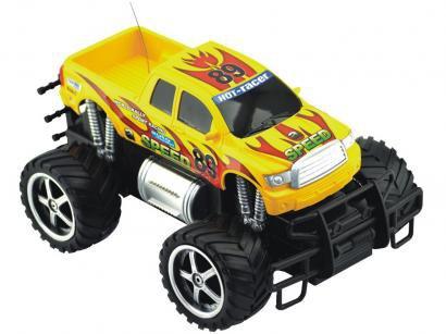 Carrinho de Controle Remoto - Giant Four Weeler Pickup 7 Funções CKS Amarelo