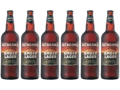 Cerveja Patagonia Amber Lager 6 Unidades - 740ml