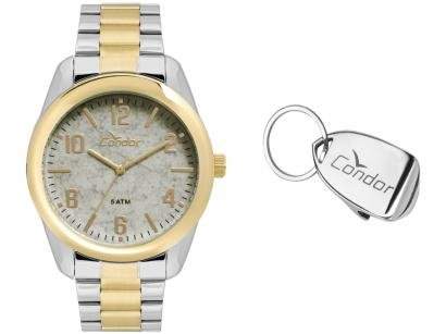 Relógio Masculino Condor Analógico - CO2036KTZ/K5C Prata e Dourado com Acessórios